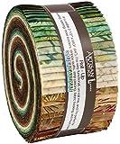 Artisan Batiks Northwoods Forest Colorstory Roll up 2.5'' Precut Cotton Fabric Quilting Strips Robert Kaufman