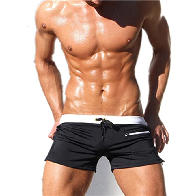 e22376de0f MZjJPN New Swimwear Men Swimsuit Sexy Swimming Trunks Sunga Hot Mens Swim  Briefs Beach Shorts Black