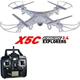 Syma X5C Quadcopter equipped with HD cameras 2.4G 6 Axis Gyro 3D Flips & High/Low Speed & Left/Right Mode