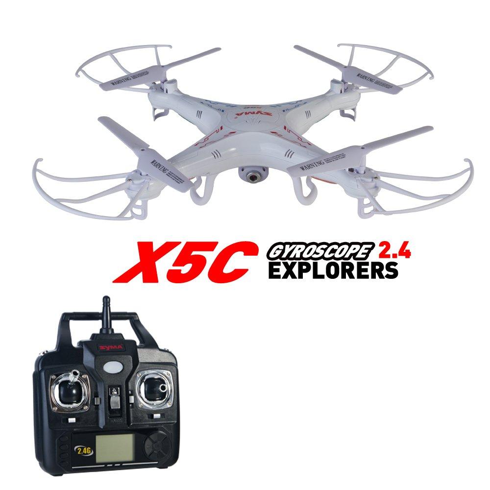 Syma X5C 2.4G 6 Axis Gyro 2.0mp HD Camera RC Quadcopter Drone RTF ...