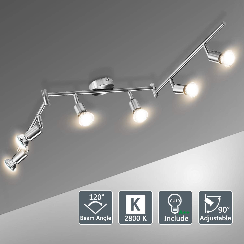 LED 3x 5 W Deckenleuchte Strahler schwenkbar Wohnzimmer Länge 90 cm Lampe GU10