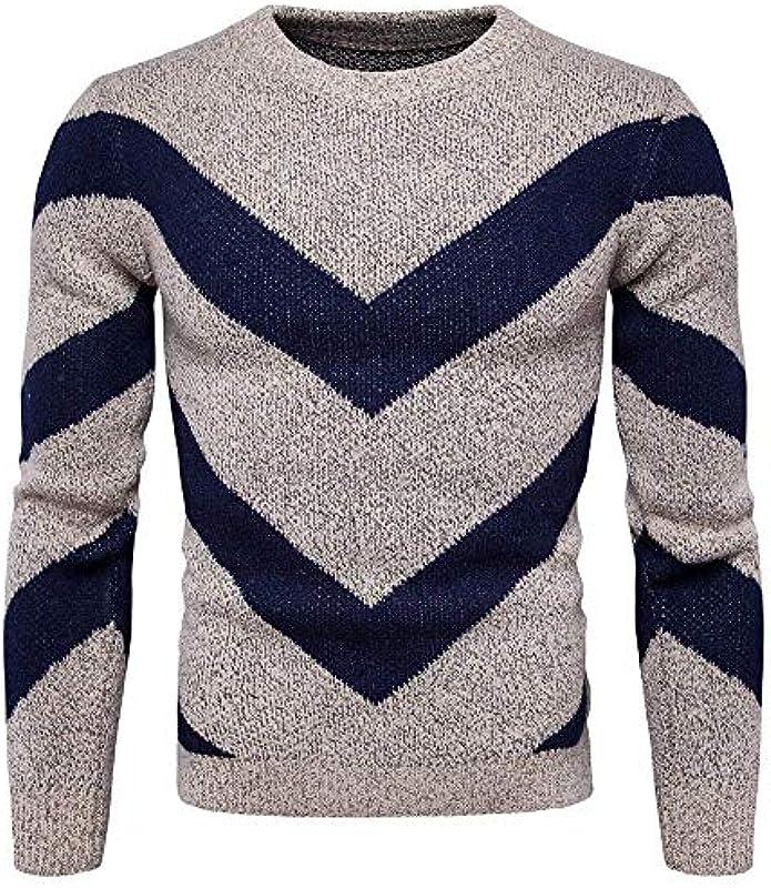 Męski sweter wiosna jesień dzianina okrągły dekolt sweter luźny długi rękaw nadruk sweter dziergany: Odzież