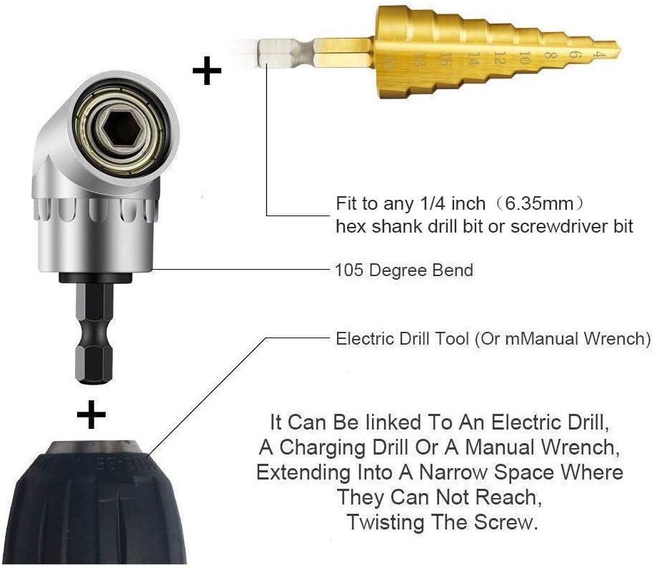 Farbe Bunt YAASO Biegsame Welle Flexible Wellenverl/ängerung Winkelbohrer Adapter Snowflake Multi Tool Schraubendreher Bits Zubeh/ör Universal Set
