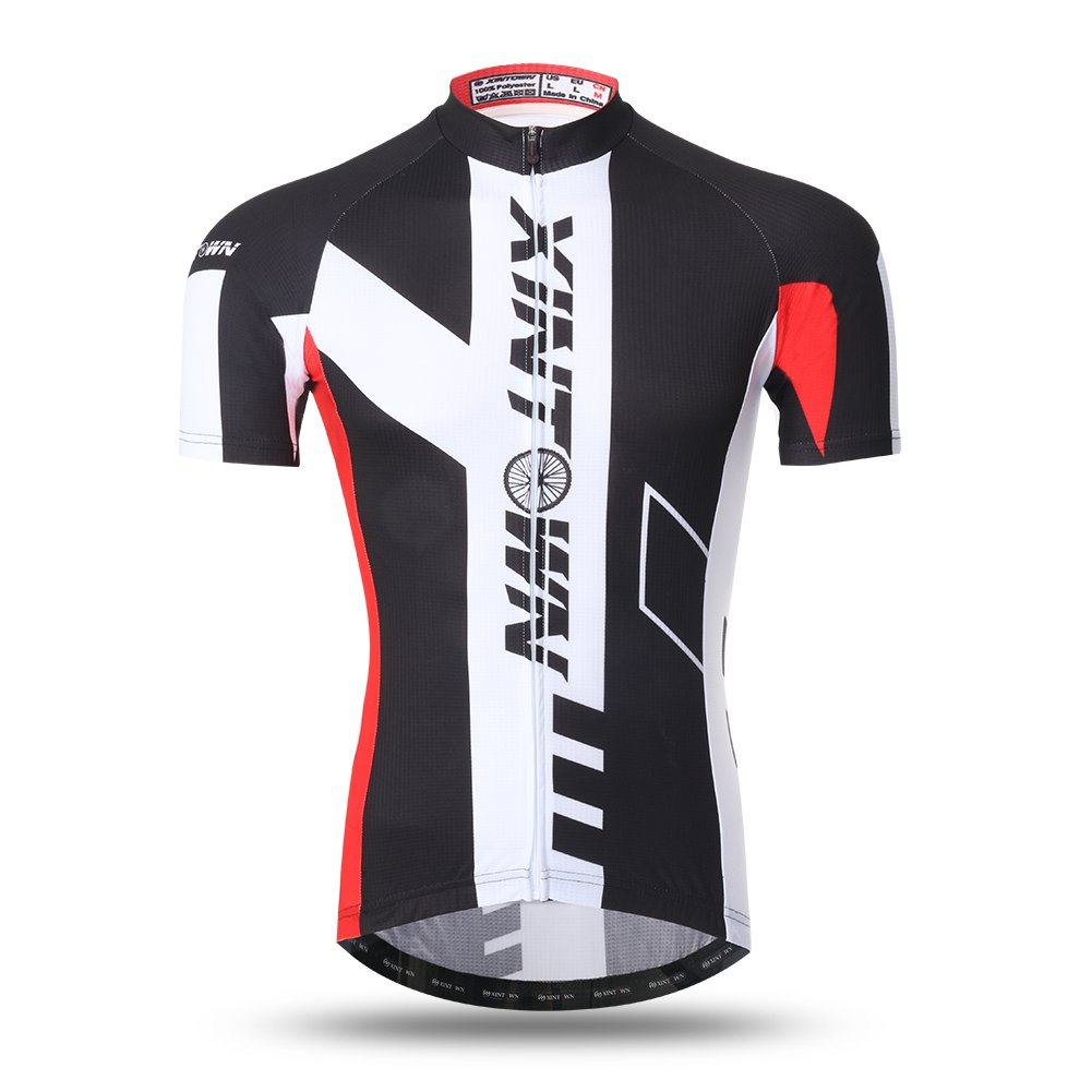 Amazon.com  Xintow Men s Cycling Jersey Short Sleeve Shirts 3D Silicone Padded  Bib Shorts Bicycle Bike Outfit Clothing A285  Sports   Outdoors 1337538c0