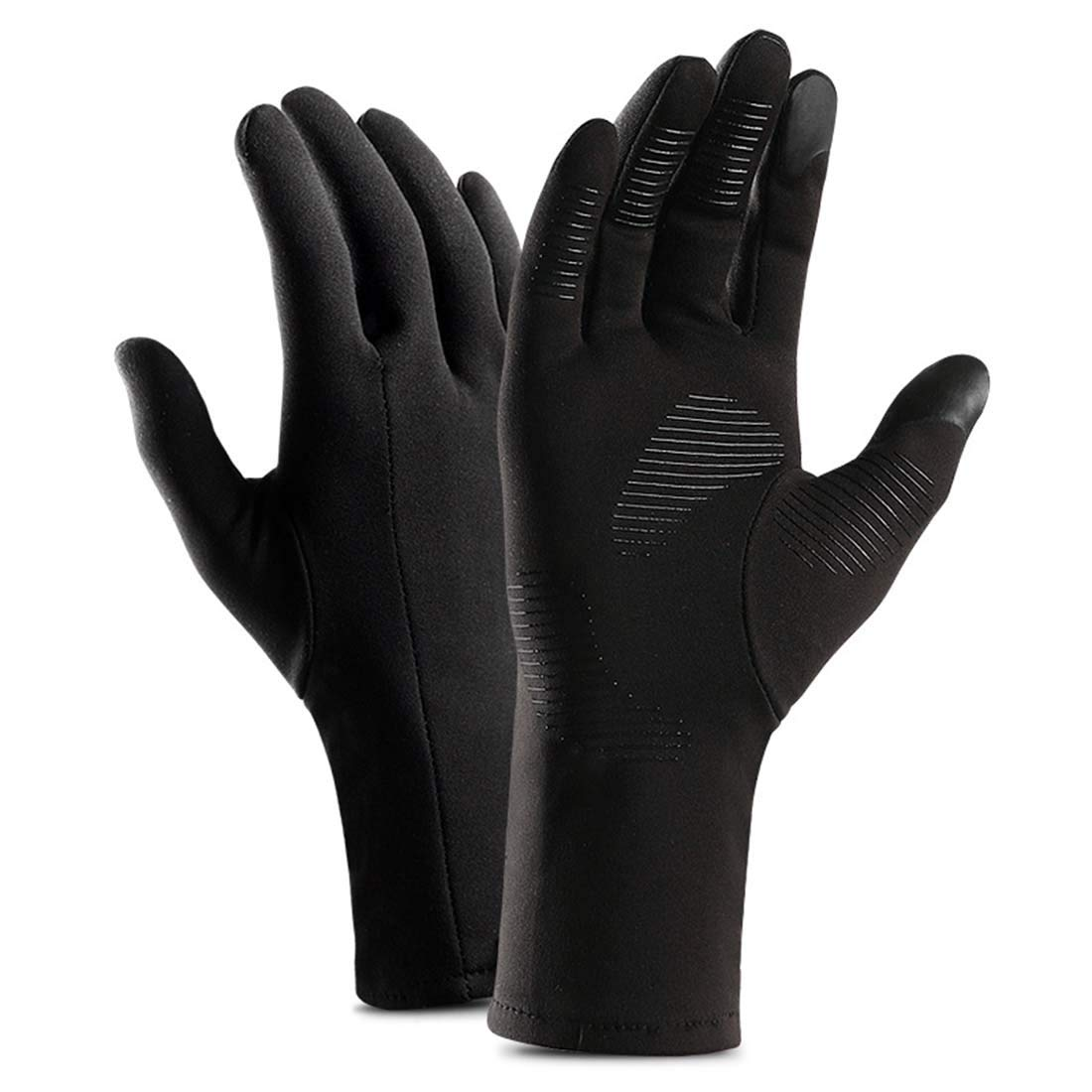 Yingniao Winter Sports Glove Touchscreen Texting Outdoor Cycling Motorcycle Mittens Lining Black(M)