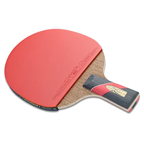 unlockgift Six-star Table Tennis Racket 5-layers Chicken Wings with 2 layers of