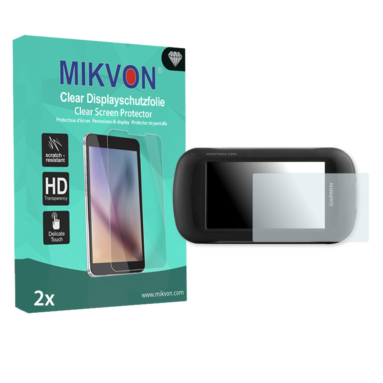 Amazon.com: MIKVON 2X Clear Screen Protector for Garmin Montana 680t - Retail Package with Accessories: Electronics
