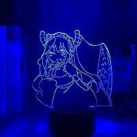 Miss Kobayashi Dragon Maid Night Light 3D Nachtlamp Anime Led Licht Miss Kobayashi Dragon Maid Nachtlamp voor Slaapkamer…