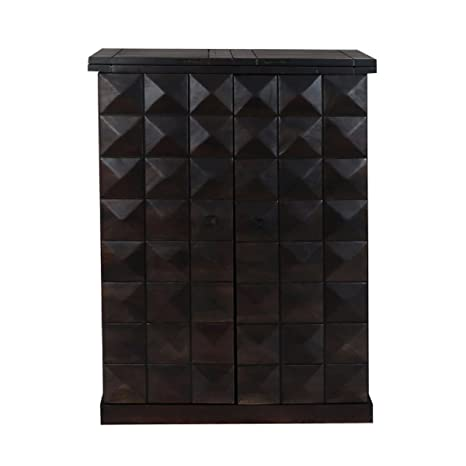 M&C Ralston Sheesham Wood Stylish Bar Cabinet with Wine Glass Storage for Living Room with Classy Finish