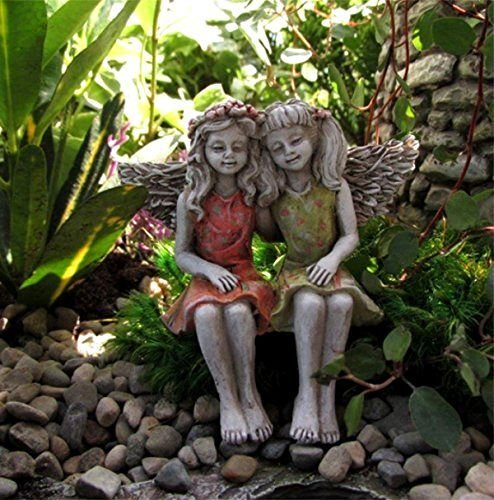 [Fairy Garden Miniature Garden Fairy Best Friends BESTRFR-12] (Garden Figure)