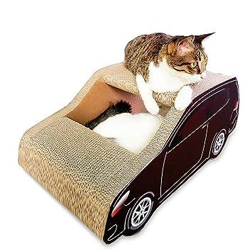 ZZQ Gato Scratchers SUV Coche en Forma de Papel Corrugado ...