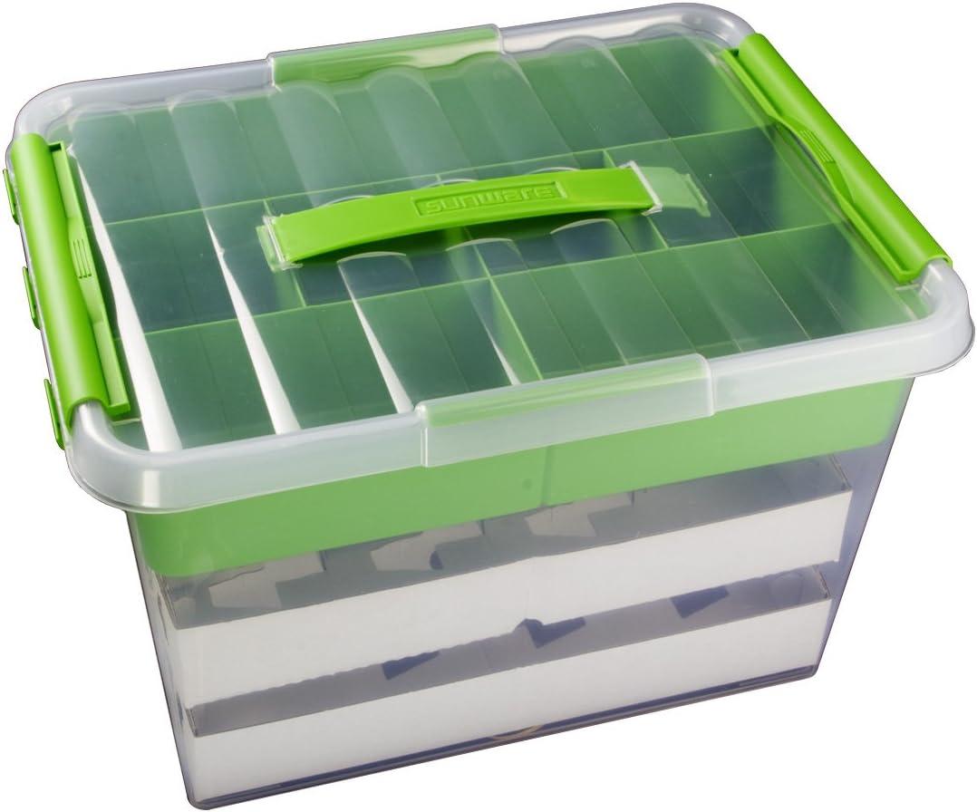 40 x 30 x 26 cm mit Clic-Verschlu/ß und Tragegriff Sunware Aufbewahrungsbox 6 Boxen /à 22 Liter im Set