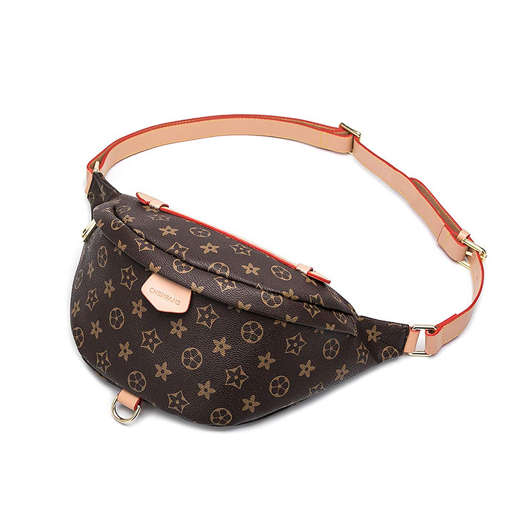Olyphy Designer Leather Waist Pack for Women, Fashion Belt Purse Fanny Pack for Ladies (Brown)