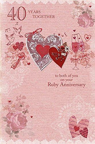 Auguri Anniversario Matrimonio 40 Anni.Wishing Well Studios Biglietti D Auguri Per Anniversario Di