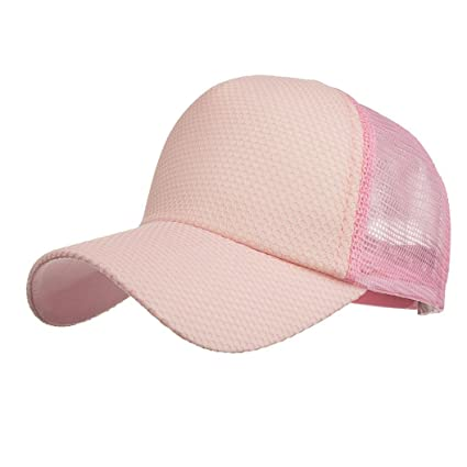 LMMVP Gorra de Béisbol de Malla Deportiva,Mujeres Hombres Ajustables Lavado Sólido Color Sombrero de