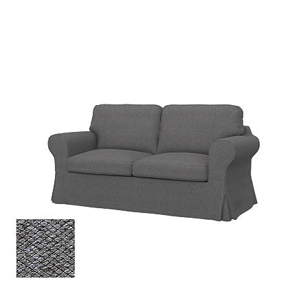 Amazonde Soferia Bezug Fur Ikea Ektorp 2er Bettsofa Stoff Nordic Grey