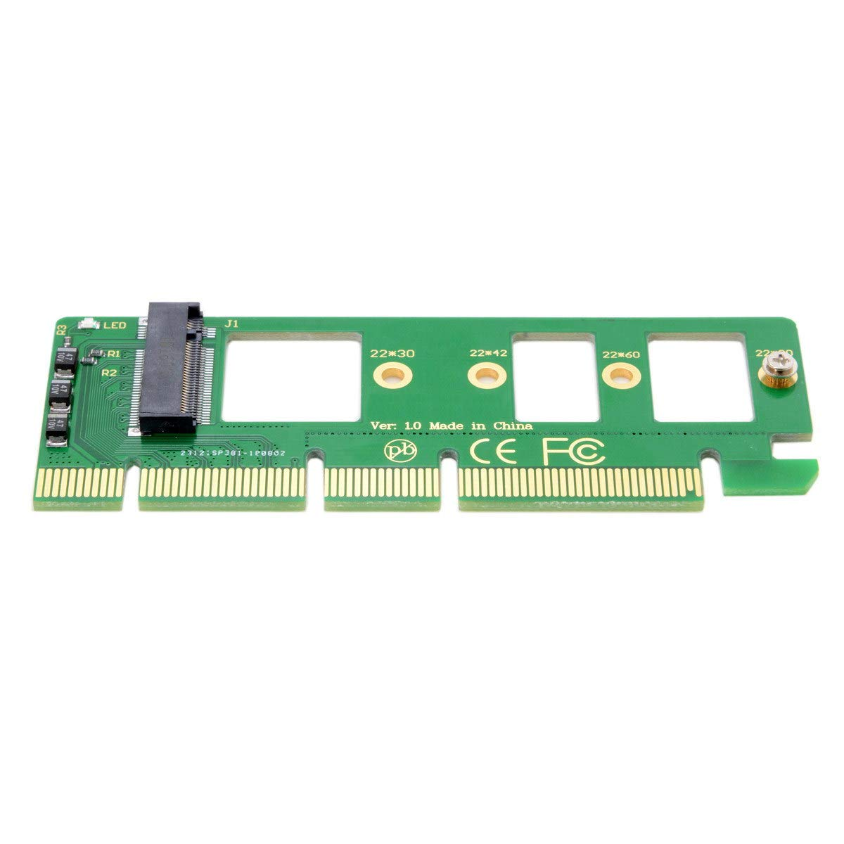 Cablecc NGFF M-Key NVME AHCI SSD to PCI-E 3.0 16x x4 Adapter for XP941 SM951 PM951 A110 m6e 960 EVO SSD by cablecc (Image #5)