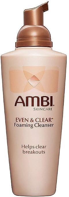 Ambi Skin Care Even & Clear Foaming Cleanser 6 oz (Pack of 6) (3 Pack) BEAUTY TREATS Sugar Lip Scrub - Raspberry