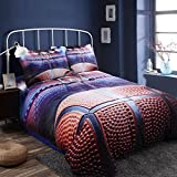 Toogoo 3D Basketball Bedding Set for Teen Boys Polyester Cover Set,2pcs 1 Duvet Cover 1 Pillowcases(No Duvet&Comforter inside) Twin Size
