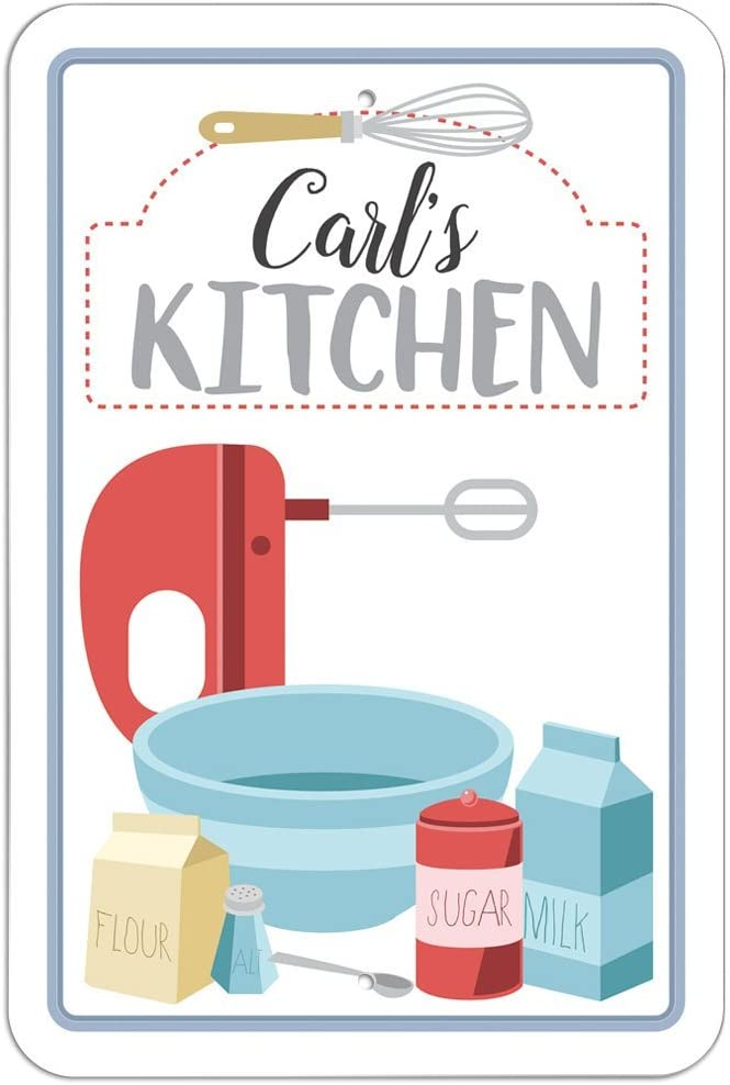 Carl S Kitchen Sign 12 X 18 30 5cm X 45 7cm Amazon Ca Home Kitchen