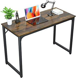 Foxemart Writing Computer Desks Simple Sturdy Home Office Desk, 32 Inch Modern PC Laptop Notebook Study Table, Vintage Rustic Brown