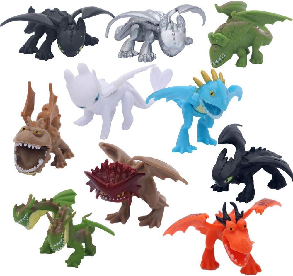 12pcs Mini Dragon Toys Assorted 3 to 4cm Action Figures Birthday Cake Topper
