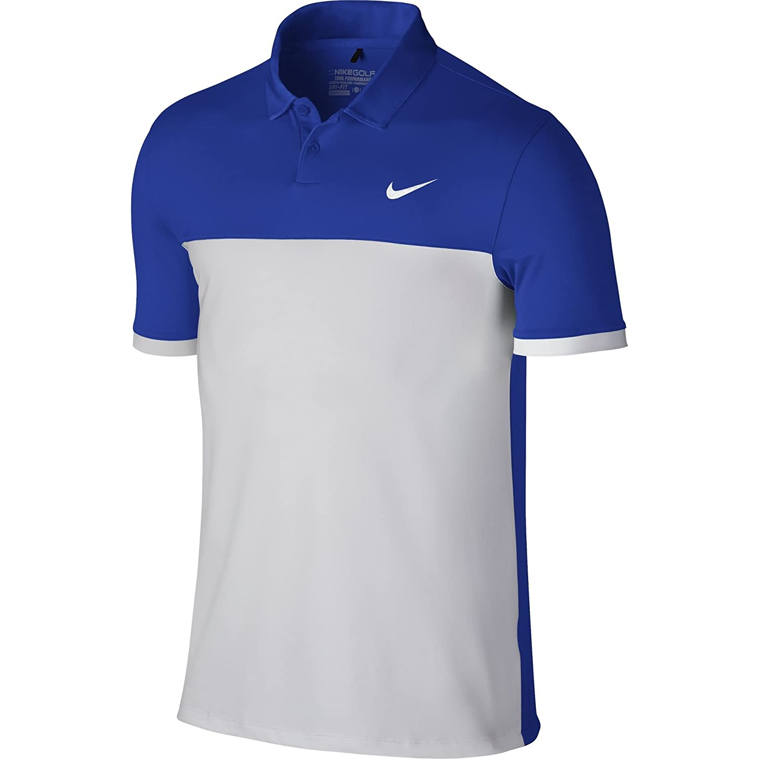 f248c67c Top2: Nike Golf CLOSEOUT Men's Icon Color Block Polo (Game Royal/White)  725527-480 (X-Large)