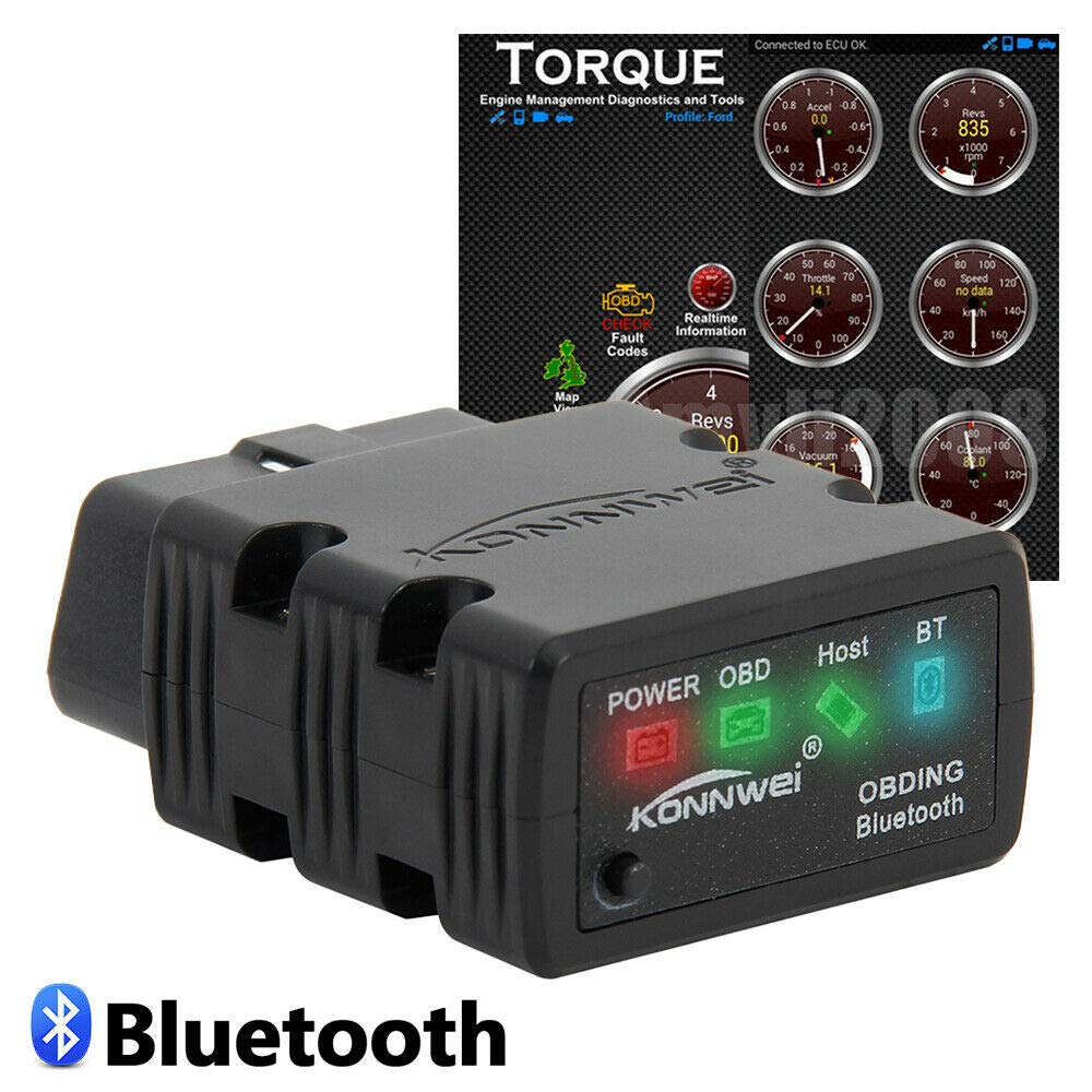 Aoile ELM327 Bluetooth OBD2 OBDII Car Code Reader Diagnostic Scanner for Android PC