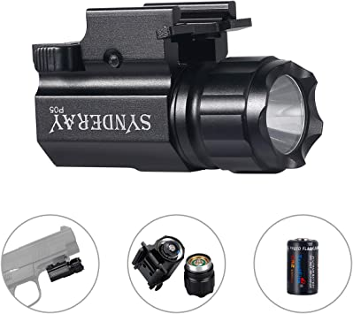Tactical Compact LED Flashlight 2-Mode 600LM Hunting Torch Light for Gun Pistol