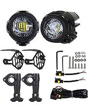 Knowled Luces de Niebla de la Motocicleta LED, Lámparas Auxiliares 40W Lámparas de conducción de Haz puntual para Motocicletas universales BMW R1200GS F800GS