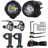 Motorfiets Mist Licht Moto Mistlampen 40 W 3000 Lm Koplampen Vooraan LED-mistlampen Voor Motorfietsen Waterbestendig…