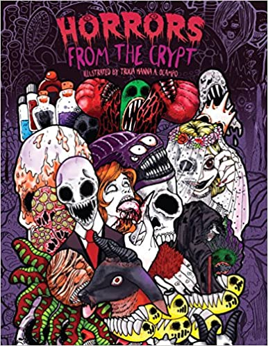 Adult Coloring Book: Horrors from the Crypt: An Outstanding ...