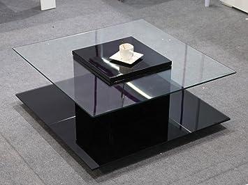 Basse Deco 2 Plateaux Confort Table En Avec Carrée Verre Léna 1cFTJlK