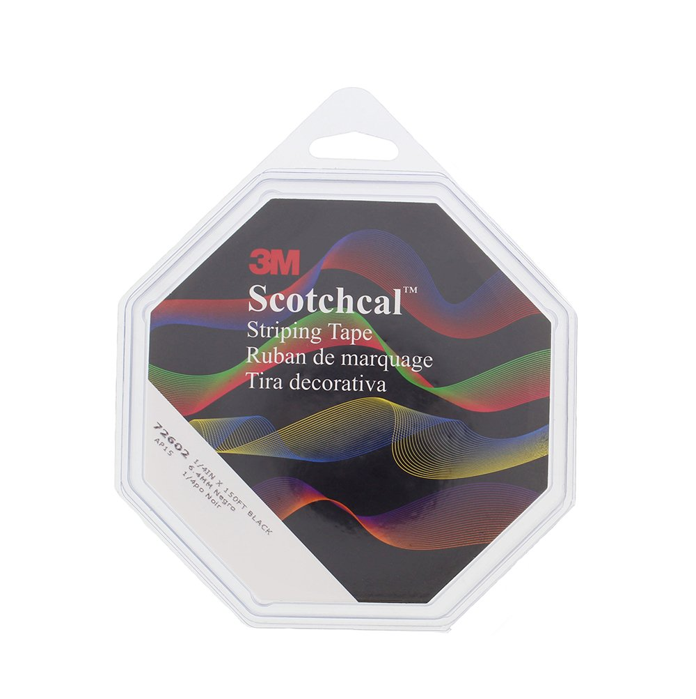 3M 726-02 3M Scotchcal Striping Tape 72602, Black, 1/4 in x 150 ft