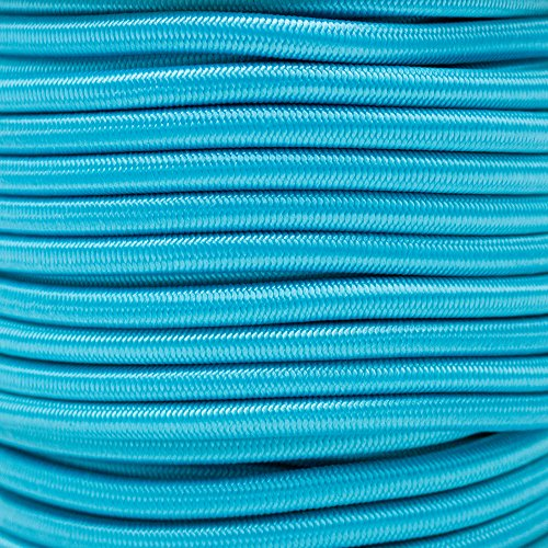 """Paracord Planet 1/4"""" Elastic Cord Crafting Stretch String with Various Colors – Choose from 10, 25, 50, and 100 Feet, Made in USA"""