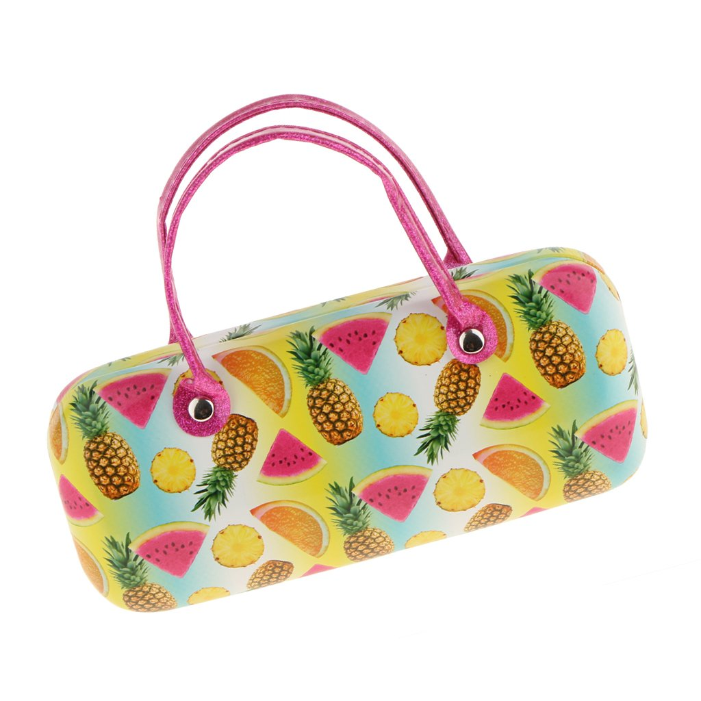 4ac35a71dad MagiDeal Lovely Fruits Leather Portable Girls Eye Glasses Sunglasses Hard  Case Protector Travel Box  Amazon.co.uk  Clothing