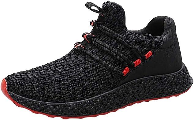 Sencillo Vida Zapatos de Seguridad para Hombre Zapatillas de Deporte Unisex Adulto Transpirables Zapatillas de Running Sneakers Zapatos Hombre Vestir Casuales para Correr Gimnasio: Amazon.es: Zapatos y complementos