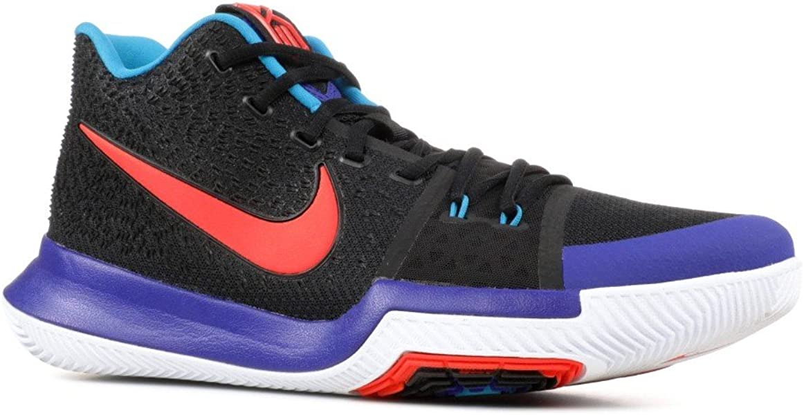 new arrival d2d9a f8549 Kyrie 3 Men's Basketball Sneaker (10, Black/Team Orange-Concord)