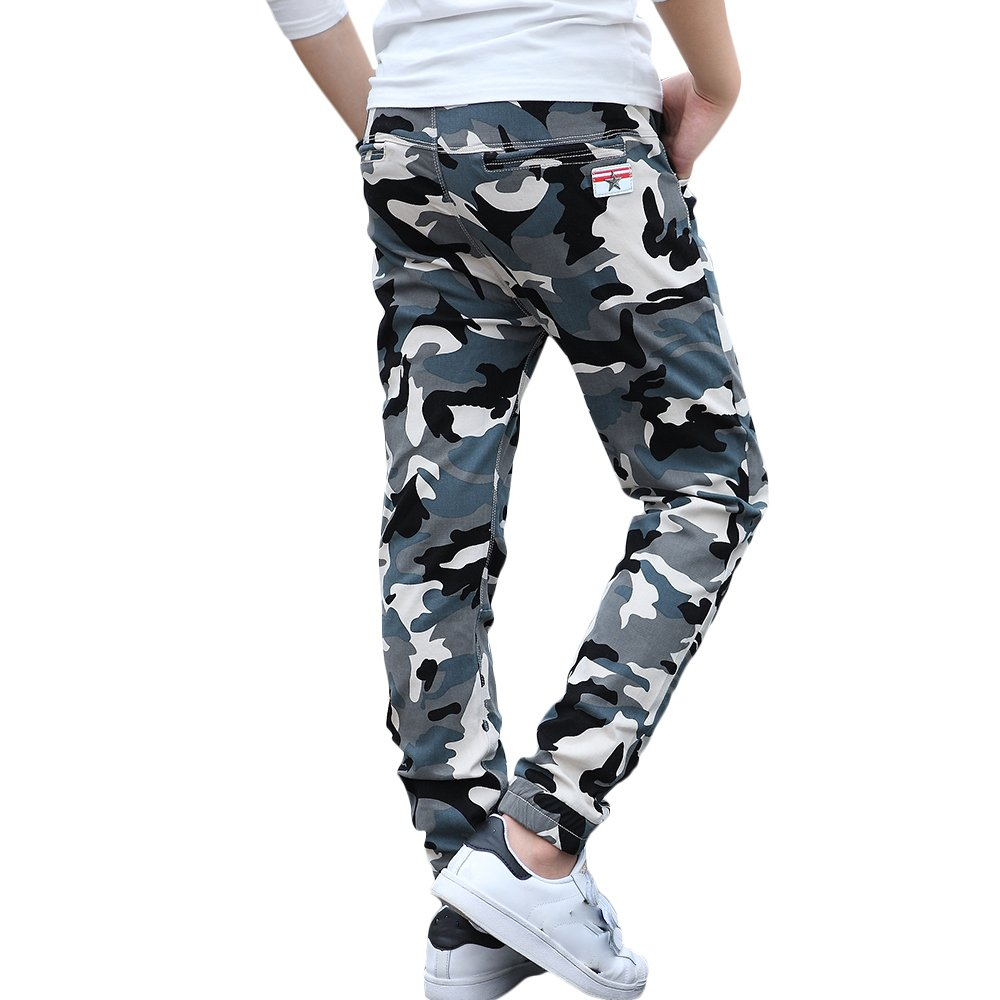 CNMUDONSI Big and Teenager Boys Pants Cotton Long Casual Camouflage Spring Autumn Clothing M707