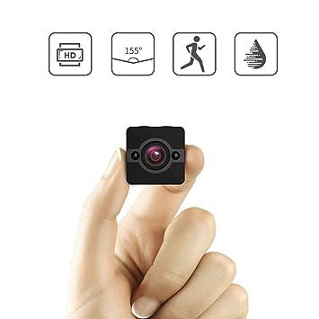 Oculto Nanny Cam visión nocturna, mini cámara espía detección de movimiento 155 ° lente gran