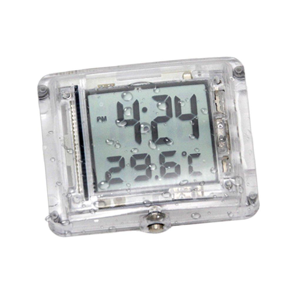 Magideal Orologio Digitale Impermeabile Termometro Luminoso Motociclistico