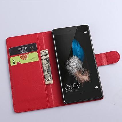 Amazon.com: Huawei P8 lite 2016 Wallet Case, Premium PU ...