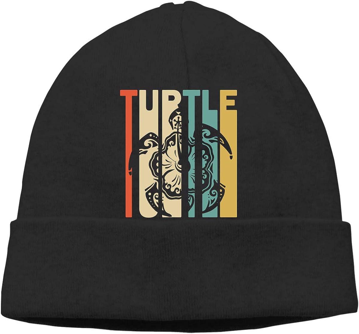 Retro Style Turtle Silhouette-2 Unisex Knitting Wool Warm Cycling Beanie Cap