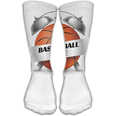 YUANSHAN Socks Basketball Time Women & Men Socks Soccer Sock Sport Tube Stockings Length 11.8Inch