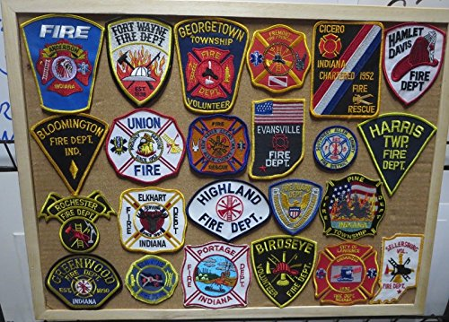 INDIANA FIRE/RESCUE DEPARTMENT PATCHES! SET ONE! LOT OF 23!