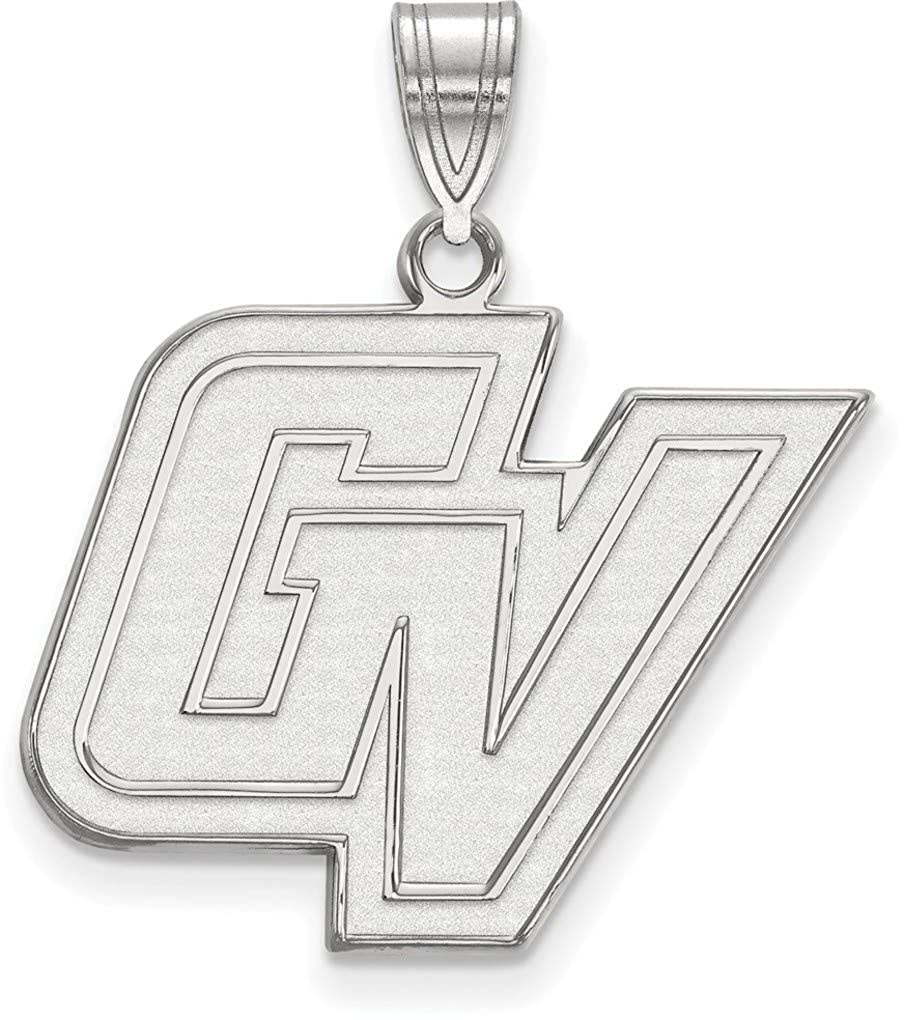 Sterling Silver Grand Valley State Large Pendant by LogoArt