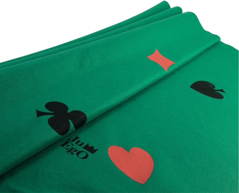 Green Juego Texas Holdem Poker Layout Felt 180 x 120 cm Tablecloth for Poker Tables