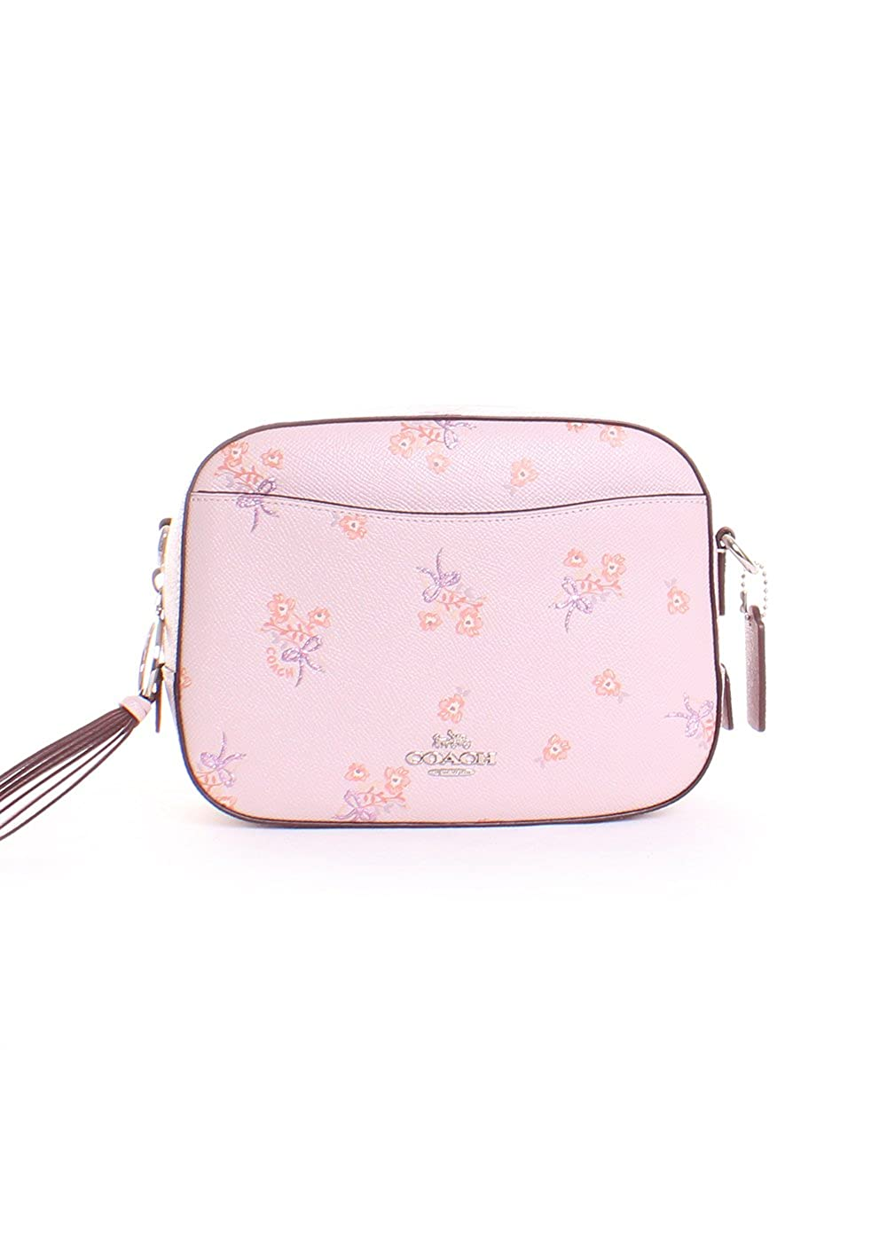 Coach Swagger 20 In Pebbled Leather Peach Camera Ice Pink Floral Bow Cross Body Bag Sv Shoes Bags
