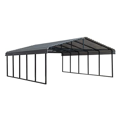 Buy Arrow Shed 20 X 24 29 Gauge Metal Carport With Steel Roof Panels 20 X 24 Charcoal Online In Indonesia B07rhc7wgy