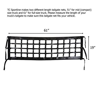 "TC Sportline TR-13 Tailgate Net 61"" x 19"" for Full Size Pick-Up Truck: Automotive"